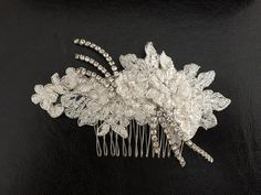 Bridal Hair Accessories Wedding Head Piece Ivory by alarastore