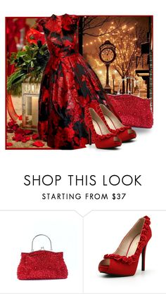 """""""Red Christmas"""" by fashionrushs ❤ liked on Polyvore featuring Christmas and dress"""