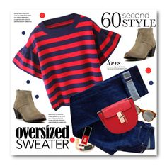 """""""60-Second Style: Oversized Sweater"""" by svijetlana ❤ liked on Polyvore featuring Gas Bijoux, A.P.C., Yves Saint Laurent, Jin Soon, sweaterweather and polyvoreeditorial"""