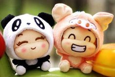 Cute Little Plush Animal Things Kawaii Plush, Kawaii Cute, Anime Animals, Plush Animals, Stuffed Animals, We Bare Bears Wallpapers, Kawaii Shop, Cute Friends, Wallpaper Iphone Cute
