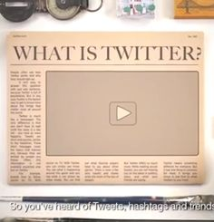 "The video describes Twitter as ""the fastest way to get real-time information."""
