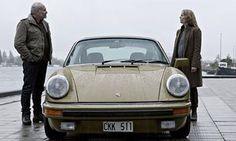 Kim Bodnia as Martin and Sofia Helin as Saga in The Bridge. The car is a 1977 Porsche Crime Film, Porsche Models, The Daily Show, Amazing Cars, Feature Film, The Guardian, Porsche 911, Short Film, Good Movies