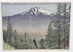 VNTG Woodblock Print Mt Shasta Morley Fletcher - shopgoodwill.com