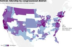 Why is funding Amtrak such a struggle? Because Republican districts don't use it.