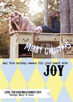 Harlequin Holiday Photo Card