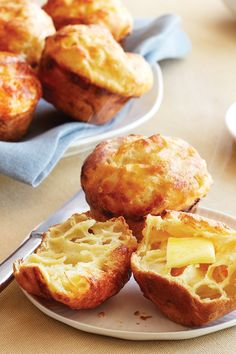 Pepper Jack Popovers Recipe | Safeway - Light, airy bread and shredded Lucerne Pepper Jack cheese make this savory finger food an unexpected spicy dinner side dish or snack.
