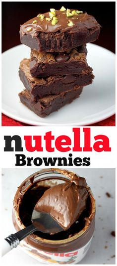 Incredibly easy one-bowl Nutella Fudge Brownies -- ready in a jiffy! http://bakerbynature.com/one-bowl-nutella-fudge-brownies/