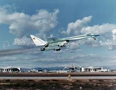 North American SST Concept Taking Off from LAX