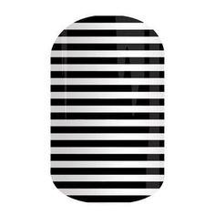 BLACK & WHITE SKINNY  Jamberry Nail Wraps