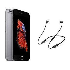 Apple iPhone Plus - Gold with BeatsX Earphones - Black Apple Iphone 6s Plus, Buy Apple, Gold, Black, Black People, Yellow