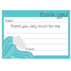 Thank You Card Printable For Gifts