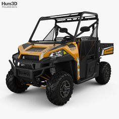 Polaris RZR S 900 2017 3d model from Hum3D
