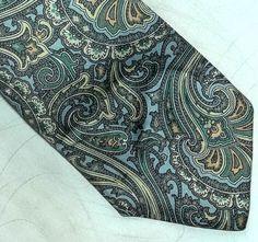 Bohemian LANVIN Paris skinny Necktie 60s Retro by MushkaVintage3