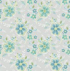 Chloe Green Floral - Wallpaper