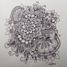 flower cluster doodle | KC DOODLE ART: