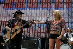 Willie Nelson and Grace Potter perform during the Grace Potter and the Nocturnals set Saturday during Farm Aid 2012. http://media.lehighvalleylive.com/entertainment-general_impact/photo/willie-and-gracejpg-4c97d19895f56996.jpg