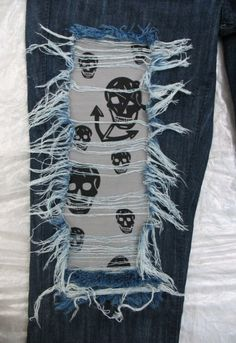 cute patch work on jeans