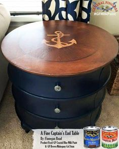 Looking for that hand rubbed wood finish? Nautical Furniture, Nautical Bedroom, Coastal Bedrooms, Brown Furniture, Nautical Theme, Painted Furniture, Nautical Dresser, Rustic Bedrooms, Western Furniture
