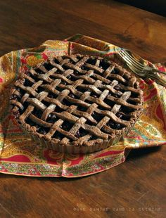Blueberry Pie with Chocolate-Ginger Crust. This chocolate ginger crust idea has my imagination running wild! I bet it would be delicious with a peach, nectarine or strawberry filling...
