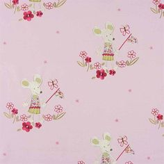 Camengo Lollipops Perlinpinpin Fabric from 4id Interiors