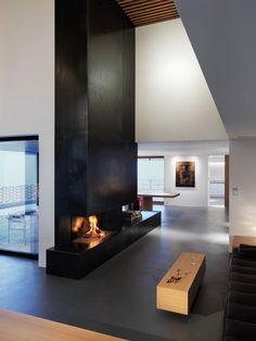 gasbetriebener kamin Bio-Kamin bauen-Schornstein Wohnzimmer-Gestaltung