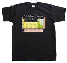 Periodic Table Elements Science Geek New Mens Cotton Tee Shirt #FruitoftheLoom #Casual