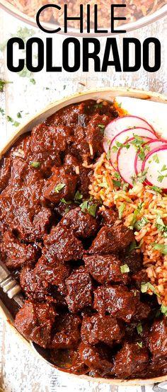 Chili Recipes, Mexican Food Recipes, New Recipes, Dinner Recipes, Cooking Recipes, Favorite Recipes, Healthy Recipes, Ethnic Recipes, Mexican Dishes