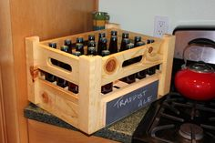 Better Bottle Storage  Like the chalkboard on the side to identify