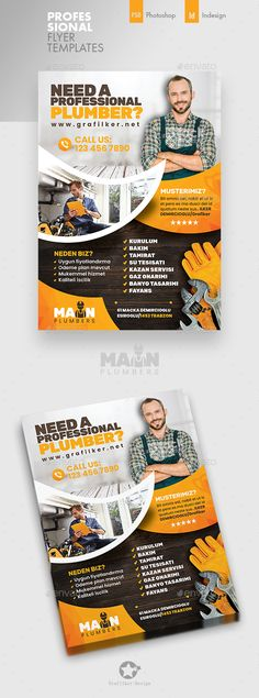 Buy Plumber Flyer Templates by grafilker on GraphicRiver. Plumber Flyer Templates Fully layered INDD Fully layered PSD 300 Dpi, CMYK IDML format open Indesign or later Com. Text Fonts, Photo Link, Vector Format, Printable Designs, Flyer Template, Flyer Design, Life Quotes, Banner, Photoshop