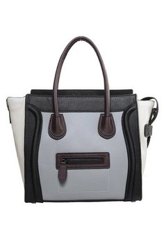 Smooth Stylin'. Vanessa Medium Tote In Smooth Leather Black/Grey/White for only $99.