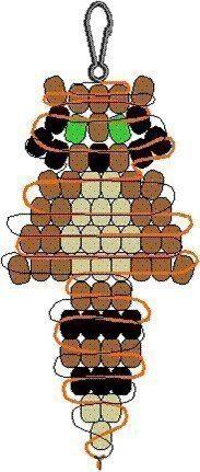 Простые брелоки из бисера