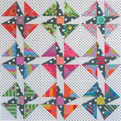 Love the stars formed by the half rectangle blocks! Star Quilt Blocks, Star Quilts, Scrappy Quilts, Quilt Block Patterns, Easy Quilts, Mini Quilts, Canvas Patterns, Half Square Triangle Quilts, Square Quilt