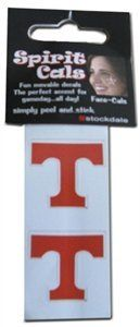 Tennessee Volunteers Temporary Tattoo Decals: 2 Pack by Stockdale. $4.45. NCAA Officially Licensed Product. Non-toxic, perfect addition to game day outfit. Easy peel-off after the game. 2 Pack of temporary tattoos. These Tennessee Volunteers temporary tattoos easily peel off and stick right on your face. Water resistant. Simply peel off face after the game. 2 decals per sheet. Decals are about one square inch in size. NCAA Officially Licensed Product.