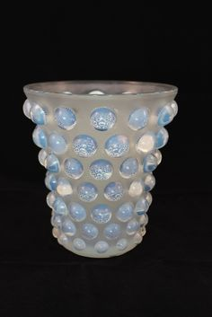 "Opalescent glass vase by Lalique named ""Bammako"" Made in France Created: 1934"
