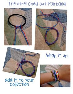 Easy and simple, super cute for hair or wrist and could make several and give to someone..I love this idea!
