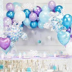 Frozen Birthday Party, Princess Birthday Party Decorations, Princess Party Decorations, Frozen Theme Party, Frozen Balloon Decorations, Frozen Wedding Theme, 4th Birthday Parties, 30th Birthday, Birthday Ideas