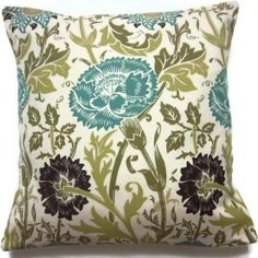 White Brown Teal Mustard Tan Yellow Fun Floral Pattern By My4Chis 2500
