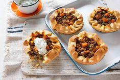 Curry Mushroom & Beef Pies