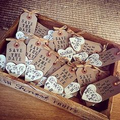 Save The Date Handmade Rustic Tags With Clay Magnet in Home, Furniture & DIY, Wedding Supplies, Cards & Invitations | eBay