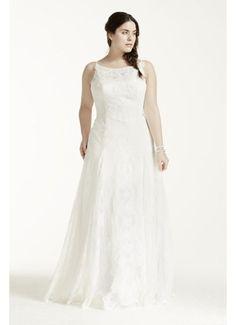 Melissa Sweet High Neck Plus Size Wedding Dress 8MS251110