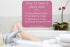 How To Take The Perfect Detox Bath (with a recipe!)