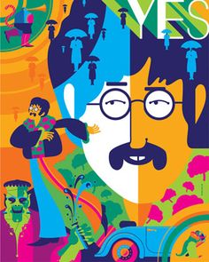 Dark Hall Mansions The Beatles Yellow Submarine - Officially Licensed Lmited Edition Prints