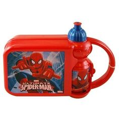 Lunch Box - Marvel - Spiderman - Combo with Water Bottle @ niftywarehouse.com #NiftyWarehouse #Spiderman #Marvel #ComicBooks #TheAvengers #Avengers #Comics