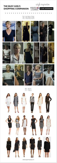 Style Inspiration: Claire Underwood from House of Cards // via The Busy Girl's Shopping Companion
