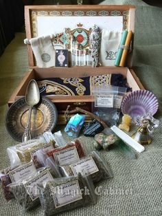 Goddess Witches Box Wiccan Altar Kit Traveling by TheMagickCabinet