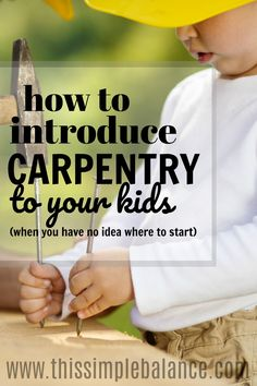 This is perfect! My kids are so interested in woodworking, but I am such a beginner - I had no idea where to start. I feel so much less intimidated with these simple project ideas. Pinning for later!