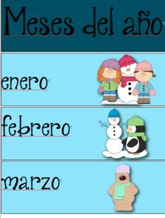 Use these bright and cheery labels to teach the calendar in Spanish.  The set includes months, days, seasons, and weather.  These labels are great for FLES, Spanish Immersion, and a regular classroom that wants to incorporate useful Spanish vocabulary.