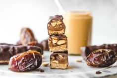Vegan and Gluten Free, these Healthy Snickers Bars will satisfy any sweet tooth! Made with only 6 plant based ingredients, they're easy to make and good for you too.