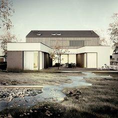 Nr 2 - dom parterowy z poddaszem użytkowym i garażem | doomo