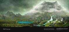 "Concept art new map ""Green Volcano"" 3  DinoStorm.com"